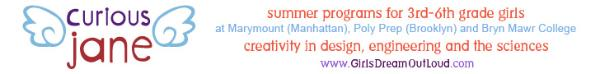 Summer Programs, Grades 3-6, Girls